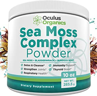 Oculus Organics Sea Moss Complex Powder (10oz / 283g) | Sea Moss Organic | Irish Sea Moss Organic Raw | Seamoss Raw Organi...