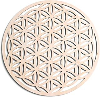 """Fourth Level Manufacturing 12"""" Flower of Life, Seed of Life, Home Decor, Wooden Wall Art, Sacred Geometry Art, Sculpture, ..."""