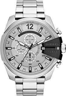 Men's Mega Chief Chronograph Silver-Tone Stainless Steel Watch DZ4501