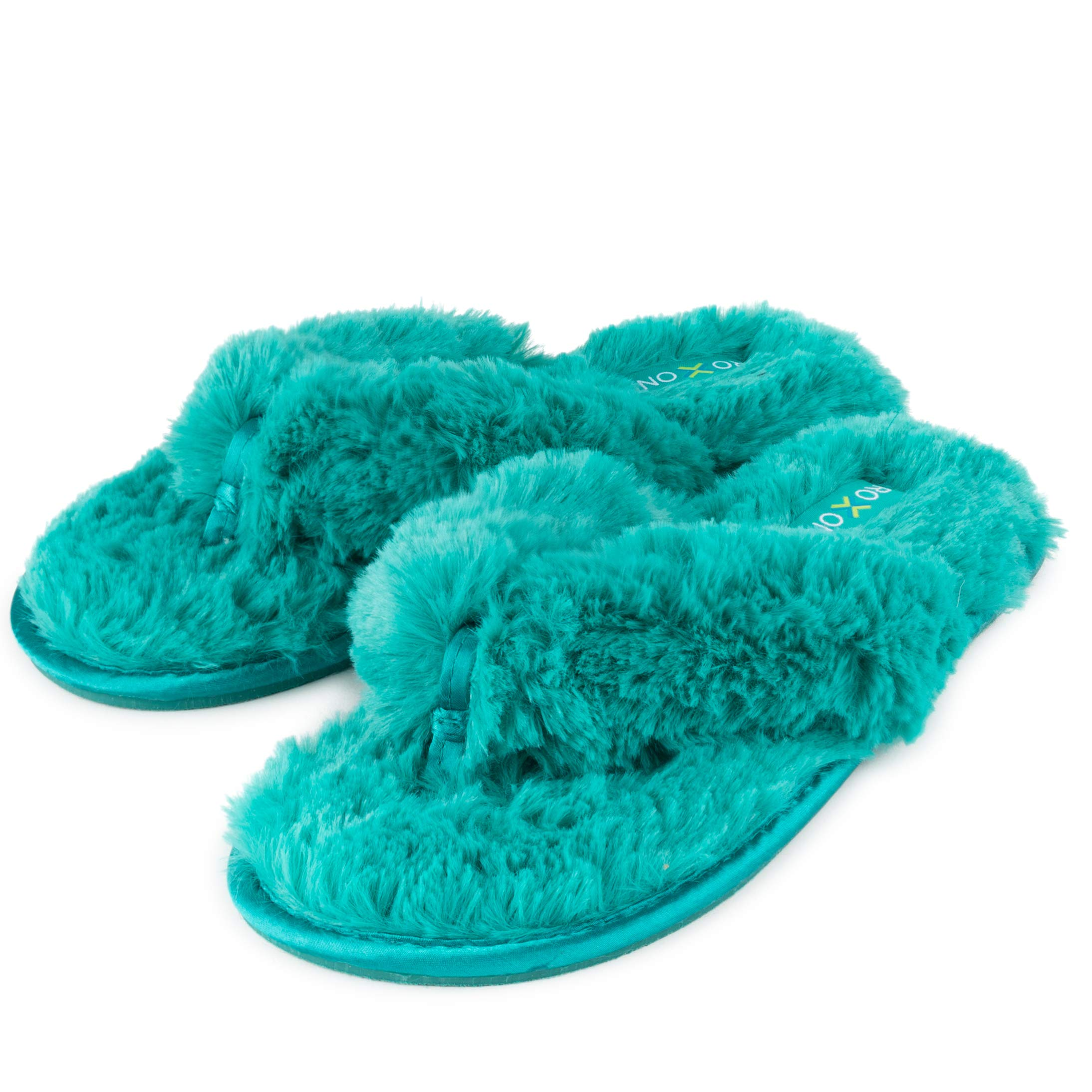 Image of Flip Flop Style Fuzzy Slippers for Women
