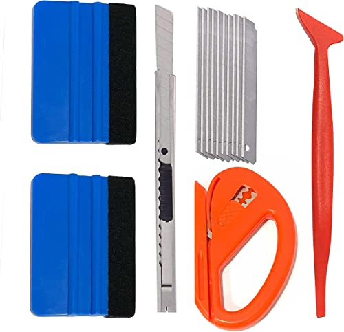 high quality EcoNour Car Wrap Kit | Window outlet sale Tinting online Tools | Pouch Includes Zippy Vinyl Cutter, Micro Squeegee, Flexible Squeegee, 9mm Utility Knife and Snap Off Blades for Car Wrapping | Window Film Tint Kit outlet online sale