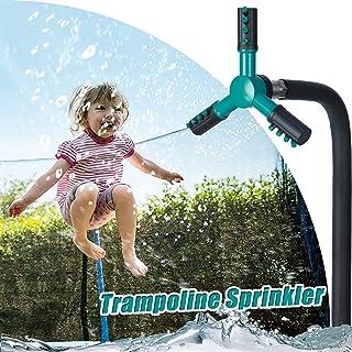 NUOQI Trampoline Sprinkler for Kids,360°Rotation Outdoor Water Play Sprinkler for Boys Girls Adults,Trampoline Backyard Wa...