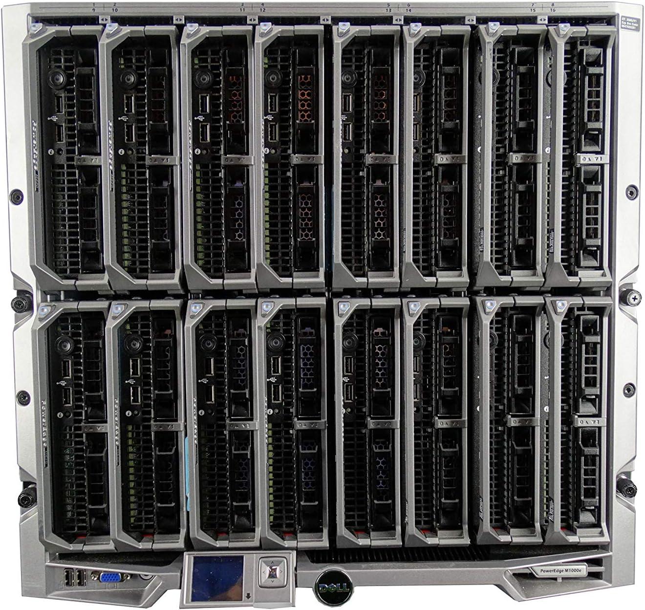 Dell PowerEdge M1000e Chassis with San Antonio Max 54% OFF Mall 4X Server M630 2X E5-2 Blade