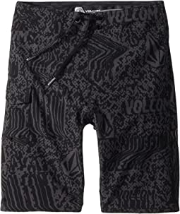 Volcom Kids Logo Plasm Mod Boardshorts (Big Kids)