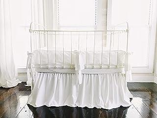 White | Farmhouse Tailored Crib Bedding Set