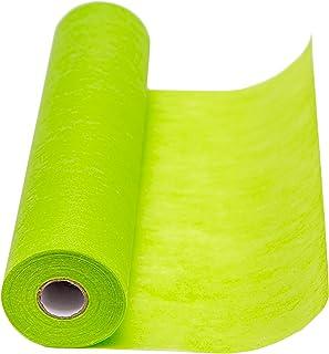 100%Mosel Chemin de Table, Polyester, Vert, 30 cm x 25 m, Tissu Intissé Decoratif pour Mariage, Baptême, Communion, Annive...