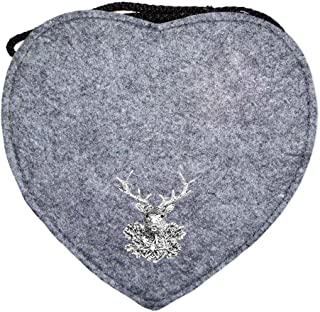 Trachtenland Herz Trachtentasche mit Edelweiß, Hirsch oder Herz Applikation - Schöne Handtaschen zum Oktoberfest Dirndl