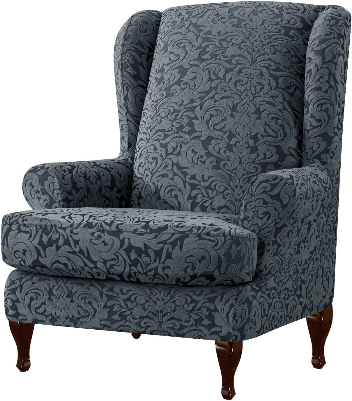 subrtex 2-Pieces Jacquard Damask Stretch Wingback Chairs 2021 OFFicial Arm Cha