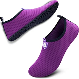 SIMARI Womens and Mens Water Shoes Quick-Dry Aqua Socks Barefoot for Outdoor Beach Swim..