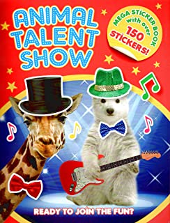 Sticker Activity Book - Animal Talent Show - Mega Sticker Book with Over 150 Stickers