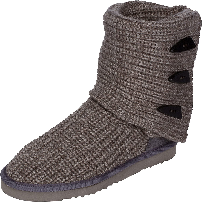 Kemi Classic Knit Boots for Women - Sasha Tall Toggle Ladies Winter Boot