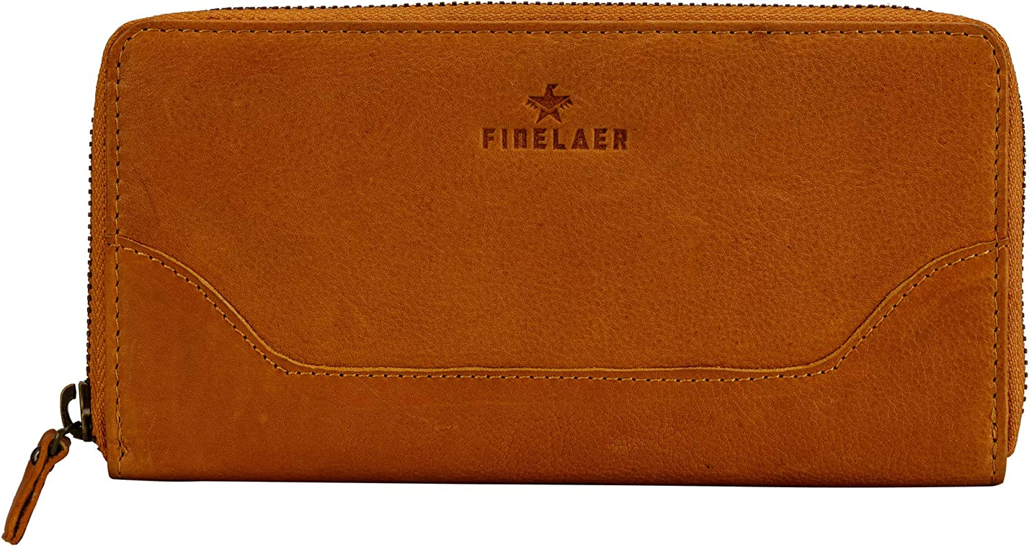Finelaer Clearance SALE! Limited time! Brown Leather Women Wallet RFID Super beauty product restock quality top Purses Zip Around