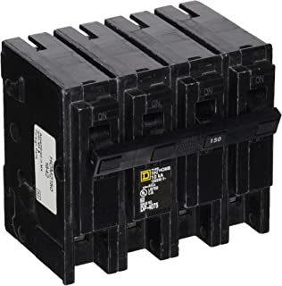 Square D by Schneider Electric HOM2150 Homeline 150 Amp Four-Pole Circuit Breaker, ,