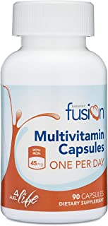Bariatric Fusion Bariatric Multivitamin ONE per Day Capsule with 45mg of Iron for Post Bariatric Surgery Patients Including Gastric Bypass and Sleeve Gastrectomy, 90 Count, 3 Month Supply