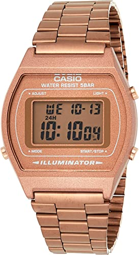 Casio Vintage Series Digital Rose Gold Rectangle Unisex Watch - B640WC-5ADF