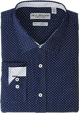 Pindot Stretch Dress Shirt