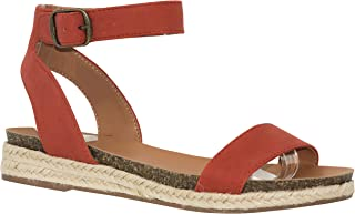 MVE Shoes Women's Stylish Comfortable Open Toe Heel Criss Cross Braided Stappy Sandal
