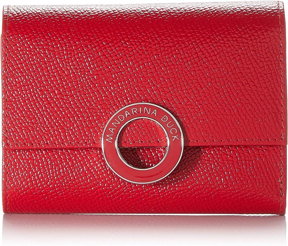 Mandarina duck deluxe, portafoglio, porta carte di credito per donna, in pelle sintetica P10BZP04