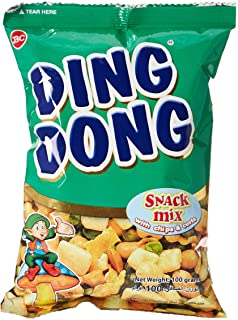 Ding Dong Snack Mix With Chips & Curls, Green, 100 gm