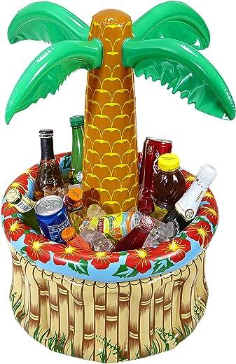 Aufblasbare Palme mit Getränkekühler