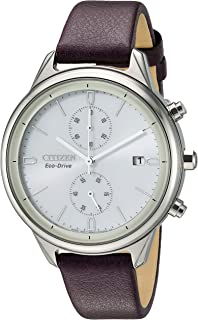 Citizen Women FB2002-08D Year-Round Chronograph Solar Powered Beige Watch