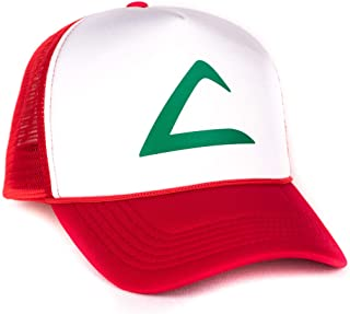 Ash Ketchum Cosplay Hat Mesh Cap Snap Back - Adult Size - Red