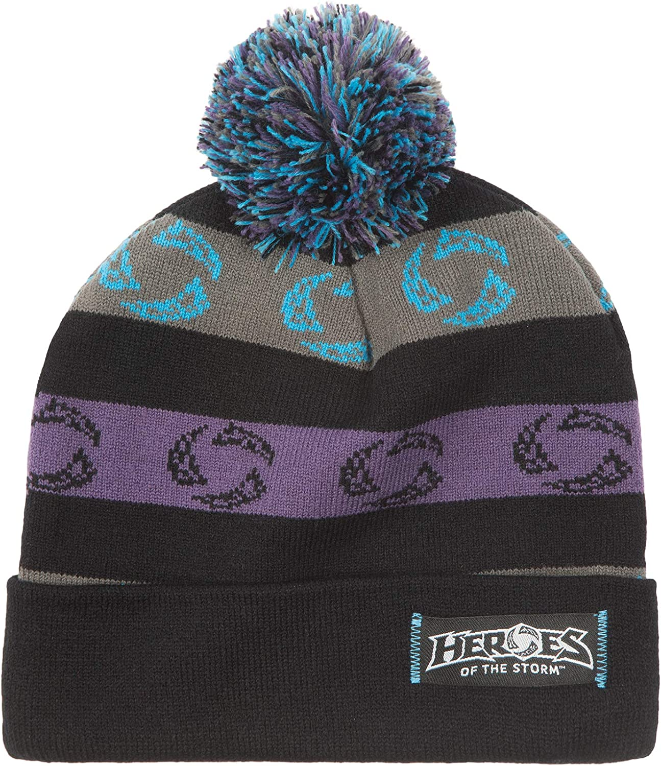 JINX Heroes of The Storm Popularity Brand Cheap Sale Venue Multi-Col Pom Knit Beanie Winmore