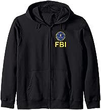 FBI Shirt, Double Sided FBI Federal Agent Chest Seal Logo Zip Hoodie