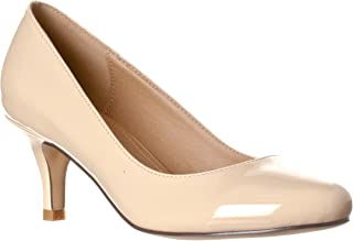 Women's Ruby Round Toe, Kitten Low Height Pump Heels