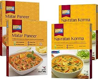 Ashoka - RTE (Combo #3) Navratan Korma & Matar Paneer (4 Pack), Ready to Eat Meals