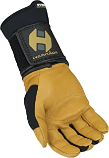 Heritage Pro 8.0 Bull Riding Gloves, Size 9, Natural Tan