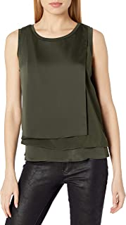 Kenneth Cole Women's 3-Layer Sleeveless Top