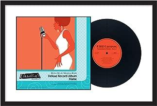 MCS 25x16.5 Inch Deluxe Record Album Frame, Black (66722)