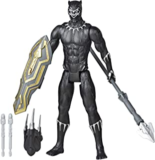 Avengers Marvel Titan Hero Series Blast Gear Deluxe Black Panther Action Figure, 12-Inch Toy, Inspired by Marvel Comics, for Kids Ages 4 and Up