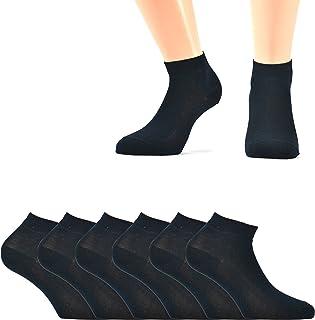 6 paia di mini calze caviglia in filo di scozia elasticizzato
