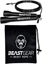Speed Skipping Rope by Beast Gear – for Fitness, Conditioning & Fat Loss. Ideal for Crossfit, Boxing, MMA, HIIT, Interval Training & Double Unders…