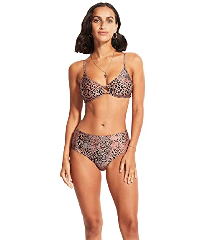 Seafolly Wild Ones Ring Front Bralette Bikini Top
