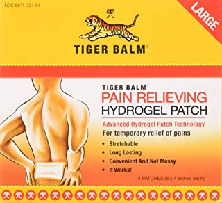 Tiger Balm Pain Relieving Patch Large 4 Each (Pack of 3)