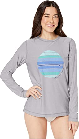 0b57a05882 Long Sleeve Heather Surfboard Logo Swim Shirt. $58.00. New. Gray Heather