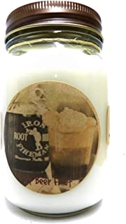 Mels Candles & More Root Beer Float 16oz Country Jar Candle All Natural Soy Candle Approximate Burn Time 144 Hours