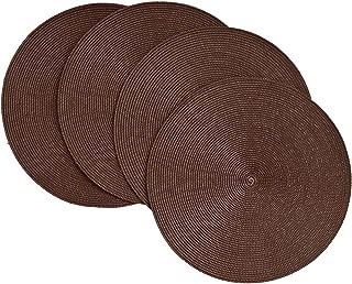 dark brown rattan placemats