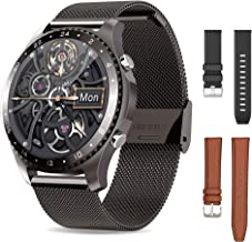 Smart Watch with 3 Different Watchbands Smartwatch with Call, Blood Pressure Heart Rate, SpO2 Monitor Sleep Tracker,App Message Reminder, Waterproof Sports Music Smart Watch for Android iOS