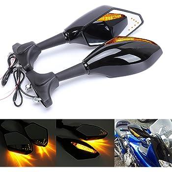 2pcs Moto Clignotants Lumi/ère Avant//arri/ère Clignotants Fit for Suzuki SV650 N S SV1000 SFV 650 Gladius DRZ 400 SM 2005-2019 Couleur : 2 Orange NO LOGO XJB-MOZX