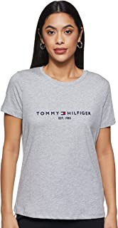 Tommy Hilfiger Women's New Th Ess Hilfiger C-nk Tee Ss New Th Ess Hilfiger Crew Neck