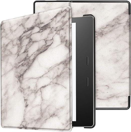 protecci/ón de esquinas Funda para  Kindle Oasis de 7 pulgadas 2019//2017 funda ultrafina de piel con funci/ón atril para  Kindle Oasis 7 pulgadas 2019//2017 azul oscuro Yobby