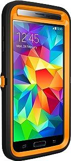 Otterbox Defender Series Samsung Galaxy S5 Case - Retail Packaging Protective Case for Galaxy S5 - Max 5 Blaze (Blaze Orange/Black/Max 5 Design)