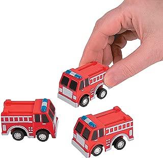 Fun Express Fire Truck Firetruck Engine Pullbacks Toy - 12 Pieces