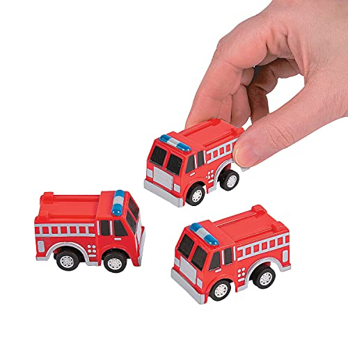 Fun Express Fire Truck Firetruck Engine Pullbacks Toy