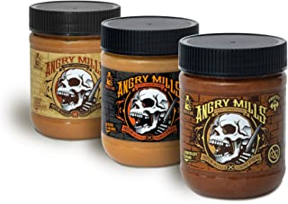Whey Protein Non-Caffeinated PEANUT/ALMOND Spread by Sinister Labs - (12 oz jar) (Best Sellers, 3-pack)
