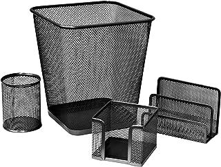 FIS Metal Mesh Office Set, 4 Pieces Per Pack, Black Color - FSDSMM03BK